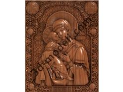107 Икона Владимирская божья матерь - 3d модели для ЧПУ - stl, art, rlf