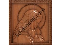 108 Икона икона Богоматерь (Игоревская) - 3d модели для ЧПУ - stl, art, rlf