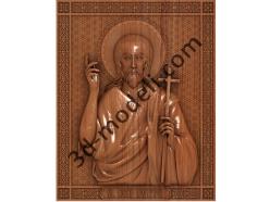 109 Икона Иоанн Предтеча - 3d модели для ЧПУ - stl, art, rlf