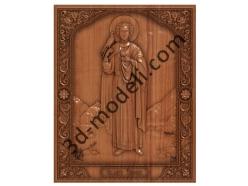 111 Икона Святой мученик Трифон - 3d модели для ЧПУ - stl, art, rlf