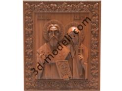 114 Икона Святой мученик Киприан и Иустина Антиохийская - 3d модели для ЧПУ - stl, art, rlf