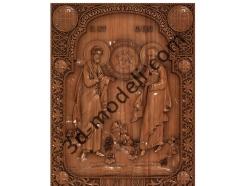 115 Икона Святые апостолы Пётр и Павел - 3d модели для ЧПУ - stl, art, rlf