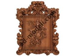 116 Икона Богородиця - 3d модели для ЧПУ - stl, art, rlf