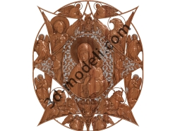 120 Икона Неопалимая Купина - 3d модели для ЧПУ - stl, art, rlf