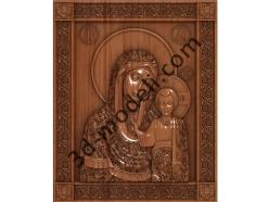 125 Икона Казанская Пресвятая Богородица - 3d модели для ЧПУ - stl, art, rlf