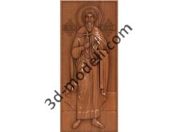 127 Икона Святой Леонид - 3d модели для ЧПУ - stl, art, rlf