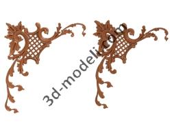 131 - Накладка декоративная - 3d модели для ЧПУ - stl, art, rlf