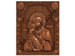 134 Икона Владимирская Богоматерь - 3d модели для ЧПУ - stl, art, rlf