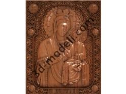 143 Икона Божьей Матери Избавительница - 3d модели для ЧПУ - stl, art, rlf