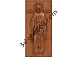 144 Икона Николай Чудотворец - 3d модели для ЧПУ - stl, art, rlf