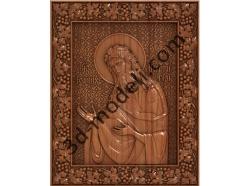 145 Икона Святой Иоан Креститель - 3d модели для ЧПУ - stl, art, rlf