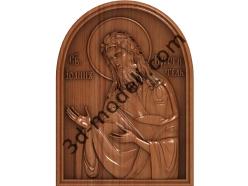 146 Икона Святой Иоан Креститель - 3d модели для ЧПУ - stl, art, rlf