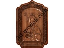 147 Икона Исус - 3d модели для ЧПУ - stl, art, rlf