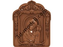 148 Икона Казанская Богоматерь - 3d модели для ЧПУ - stl, art, rlf