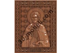 156 Икона Александр Невский - 3d модели для ЧПУ - stl, art, rlf