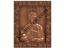 157 Икона Апостол Лука - 3d модели для ЧПУ - stl, art, rlf