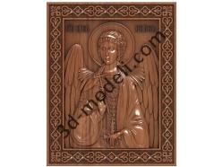 163 Икона Ангел Хранитель - 3d модели для ЧПУ - stl, art, rlf