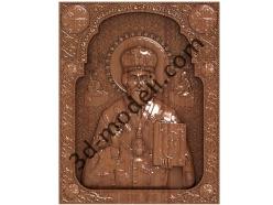 164 Икона Николай Чудотворец - 3d модели для ЧПУ - stl, art, rlf