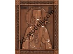 165 Икона Святой Лука - 3d модели для ЧПУ - stl, art, rlf