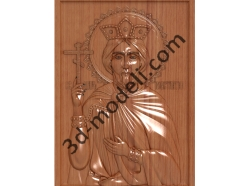 167 Икона Святой Константин - 3d модели для ЧПУ - stl, art, rlf