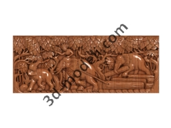 169 - Резное панно - 3d модели для ЧПУ - stl, art, rlf
