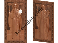 169 Икона Фотина Самарянина - 3d модели для ЧПУ - stl, art, rlf