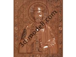 170 Икона Святой Владимир - 3d модели для ЧПУ - stl, art, rlf