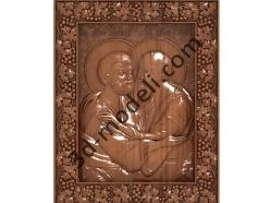 173 Икона Святые апостолы Пётр и Павел(не каноническая) - 3d модели для ЧПУ - stl, art, rlf
