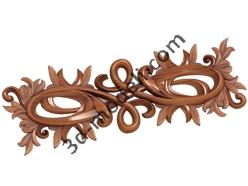 176 - Накладка декоративная - 3d модели для ЧПУ - stl, art, rlf