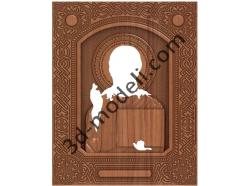 181 Икона Господь Вседержитель (обклад) - 3d модели для ЧПУ - stl, art, rlf