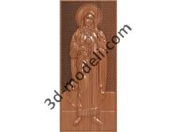 187 Икона Святая Мария - 3d модели для ЧПУ - stl, art, rlf