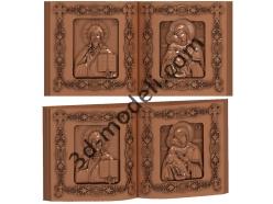 191 Икона Диптих книга - 3d модели для ЧПУ - stl, art, rlf