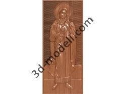 192 Икона Святая Мария - 3d модели для ЧПУ - stl, art, rlf