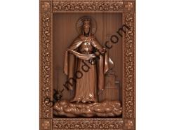 195 Икона Покрова Пресвятой Богородицы - 3d модели для ЧПУ - stl, art, rlf