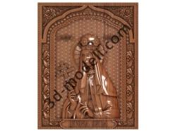 202 Икона царевна Татьяна - 3d модели для ЧПУ - stl, art, rlf