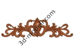 203 - Накладка декоративная - 3d модели для ЧПУ - stl, art, rlf