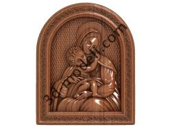 207 Икона Богородица - 3d модели для ЧПУ - stl, art, rlf