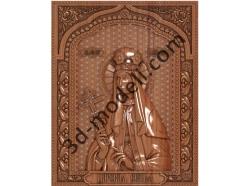 211 Икона царевна Татьяна - 3d модели для ЧПУ - stl, art, rlf
