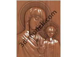 212 Икона Богоматерь Казанская - 3d модели для ЧПУ - stl, art, rlf
