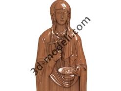 213 Икона Праскева Сербская (Света Петка) - 3d модели для ЧПУ - stl, art, rlf