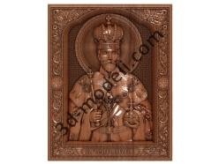 214 Икона Николай II - 3d модели для ЧПУ - stl, art, rlf