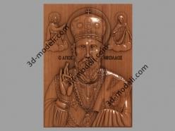 117 Икона Святой Николай - 3d модели для ЧПУ - stl, art, rlf